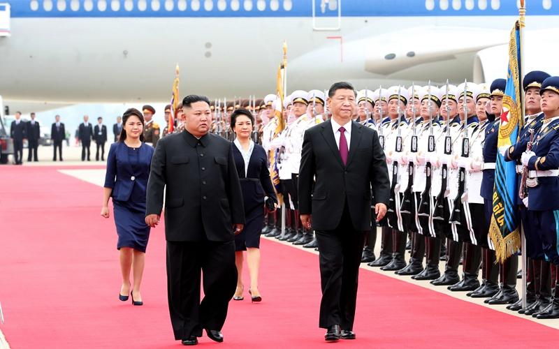 Xi trifft in DVRK für Staatsbesuch ein