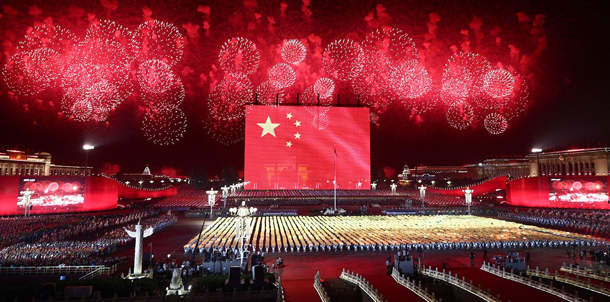 Abendgala zum chinesischen Nationalfeiertag veranstaltet