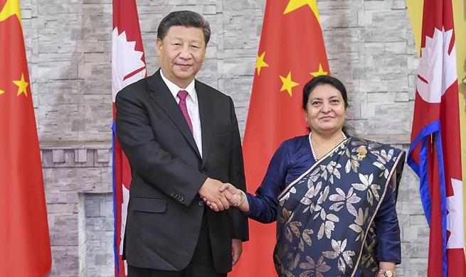 Xi trifft nepalesische Präsidentin in Kathmandu