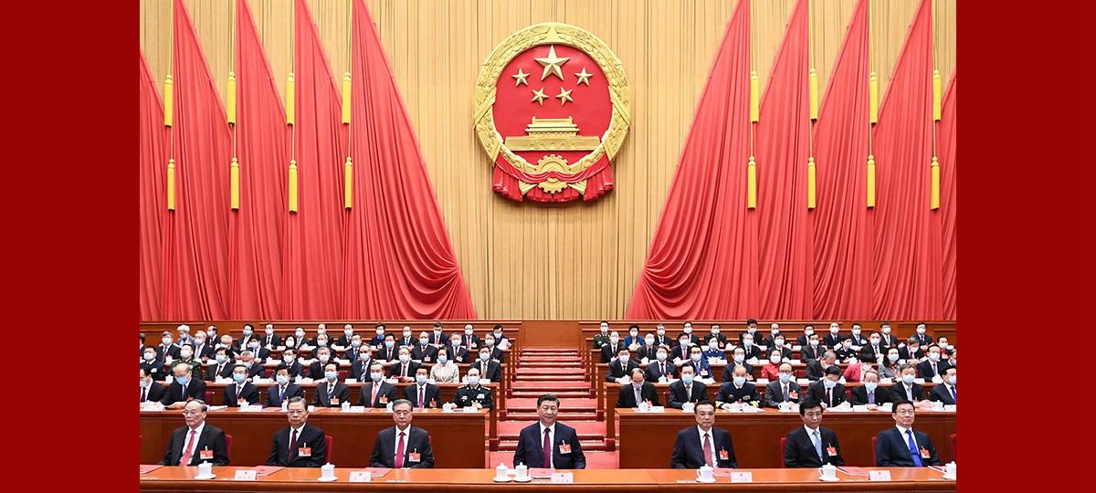 Chinas oberste Gesetzgebung hält Abschlusssitzung der Jahrestagung ab