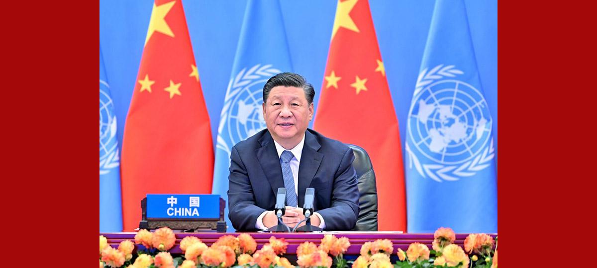 Chinesischer Staatspräsident hält Rede bei Eröffnungszeremonie der 2. globalen Konferenz der UN für nachhaltigen Verkehr