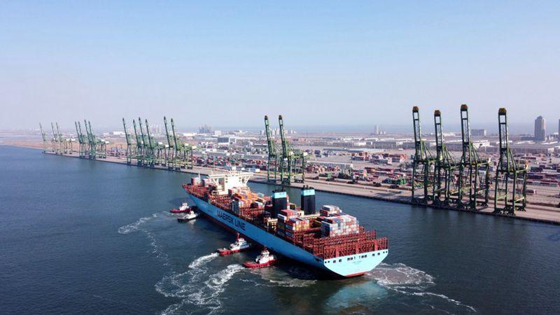 Null-Kohlenstoff-Terminal im Hafen von Tianjin in China eröffnet