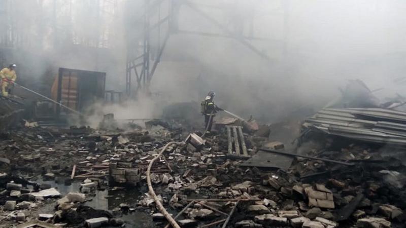 17 Tote bei Brand in russischer Sprengstofffabrik