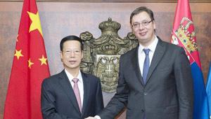 Gespräche zwischen Chinas und Serbiens Premierminister