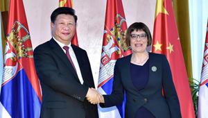 Xi Jinping trifft Präsidentin des serbischen Parlaments