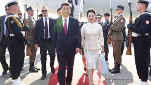 Xi trifft für Staatsbesuch in Polen ein
