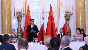 Xi Jinping nimmt an Begrüßungsbankett in Polen teil