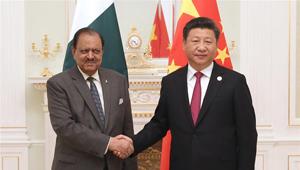 Xi Jinping trifft pakistanischen Präsidenten