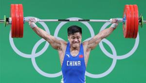 Silbermedaille: Lyu Xiaojun brach mit 177Kg den Weltrekord