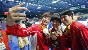 Ding Ning gewinnt Goldmedaille im Tischtennis-Dameneinzel