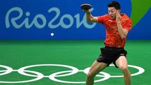 Ma Long gewann 4:2 beim Halbfinale des Herreneinzels im Tischtennis