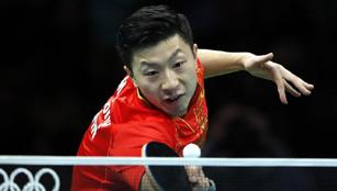 Ma Long gewann die Goldmedaille beim Finale des Herreneinzels im Tischtennis
