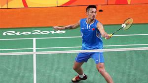 Lin Dan gewinnt Gruppenspiel gegen Vladimir Malkov von Russland
