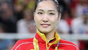 Li Dan hold Bronzemedaille beim Trampolinturnen