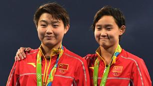Gold und Silber für China im 10m-Brett-Finale des Wasserspringens