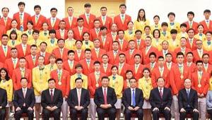 Chinesische Führungsspitzen treffen Olympiadelegation