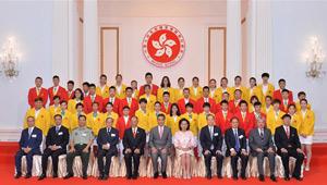Bankett für Olympioniken aus chinesischem Festland in Hongkong