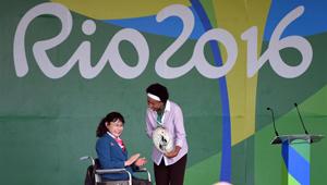 Fahnenzeremonie der chinesisch paralympischen Delegation in Rio abgehalten