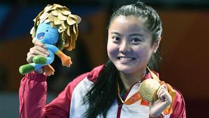 Mao Jingdian holt bei den Paralympischen Sommerspielen Gold im Tischtennis Frauen Einzel Klasse 8