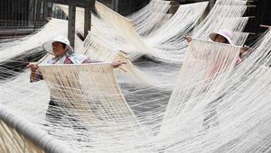 Changhua-Nudeln in Taiwan