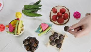 Getrocknetes Gemüse und Obst werden online verkauft
