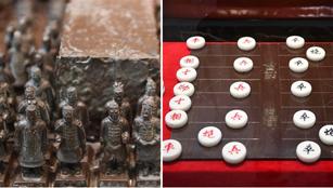 Chinas Kultursymbole werden zu Kunst aus Schokolade
