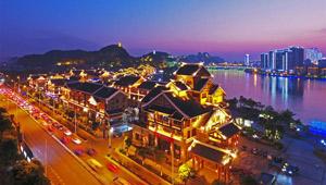 Nachtszene von Liuzhou genießen