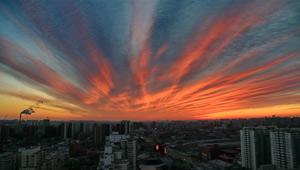 Träumerische Morgendämmerung über Beijing