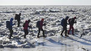 Eis-Wandern in Panjin