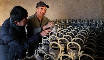 Herstellung der Qingsha-Töpfe in Hebei