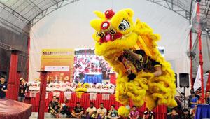 10. Internationaler Löwentanz-Wettbewerb in Singapurs Chinatown