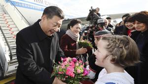Xi Jinping trifft für Staatsbesuch in der Schweiz ein