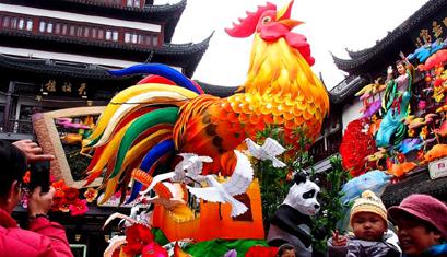 Shanghai begrüßt das bevorstehenede chinesische Frühlingsfest