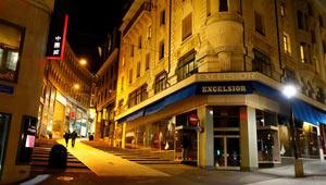 Nachtanblick von Lausanne