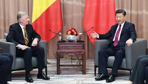 Xi Jinping trifft belgischen König Philippe in Davos