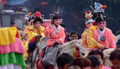 Kinder-Parade in Fujian