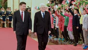 Xi trifft seinen italienischen Amtskollegen