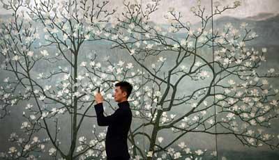 Ausstellung zur Feier des 80. Geburtstages von Qiao Shiguang im Nationalmuseum Chinas eröffnet