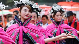 Qipao Show in Zhangjiajie