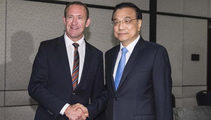 Li Keqiang trifft Führung der Labour Partei von Neuseeland