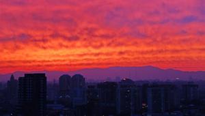 Abendrot in Beijing