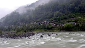 Landschaft im Stromschlucht-Dulong