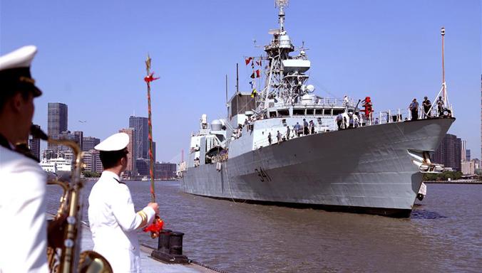 Kanadisches Kriegsschiff HMCS Ottawa trifft in Shanghai für Besuch ein