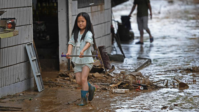 Starker Regen droht Jiangxi