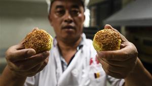 Renommierter Sesamkuchen in Taixing