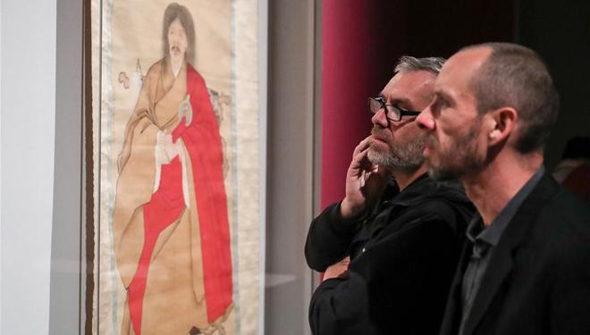 Antike chinesische Porträtmalereien in Berlin ausgestellt