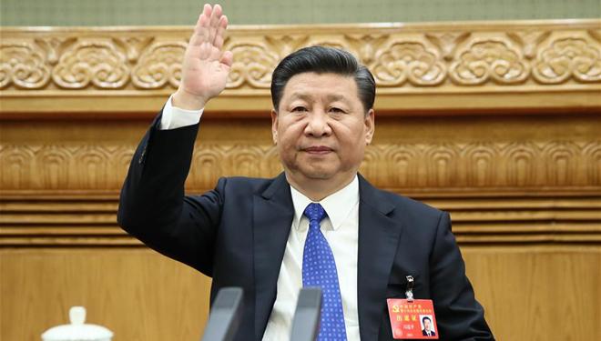 Xi Jinping hält Rede bei erster Sitzung des Präsidiums des 19. Parteitags der KPCh