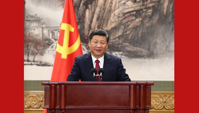 Xi präsentiert die neuen zentralen Führungen der KPCh