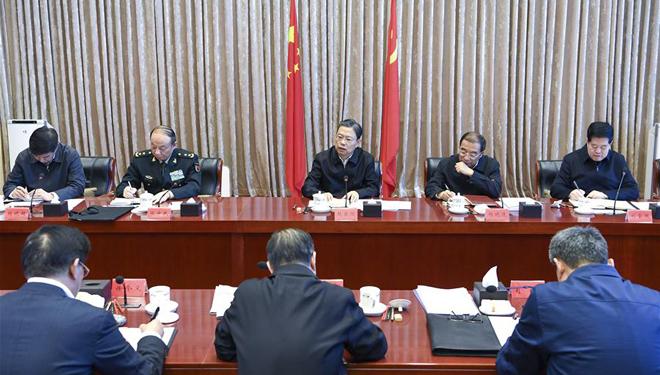 Zhao Leji sitzt der ersten Sitzung des Ständigen Ausschusses der 19. ZKDI vor