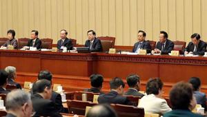 Zhang Dejiang hält Vorsitz über eine Sitzung der 30. Tagung des Ständigen Ausschusses des 12. NVK